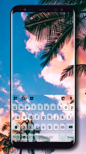 Palm Tree Sky Tema Tastiera screenshot 1