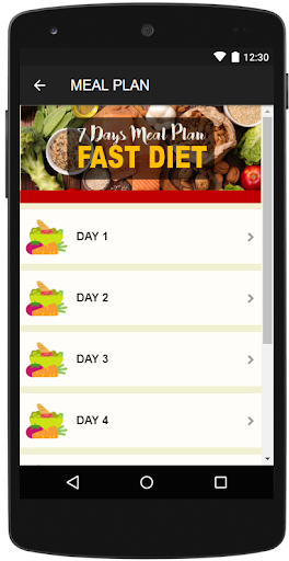 7 DAYS FAST DIET MEAL PLAN screenshot 2