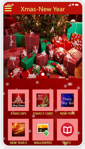 Christmas & New Year Greetings Ecard and GIF capture d ecran 2