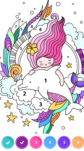Paint.Book: Color by number & Relaxing Game screenshot 1