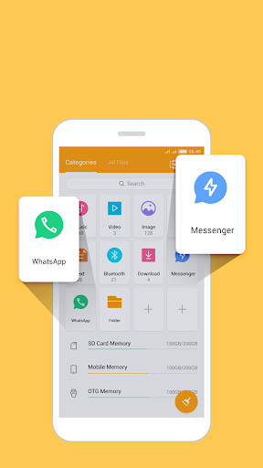 FileManager Pro free up space WhatsApp status save screenshot 3