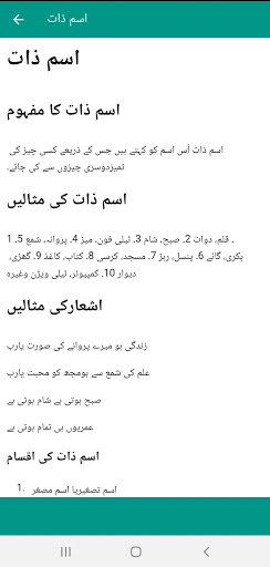 Urdu Grammar Book screenshot 2