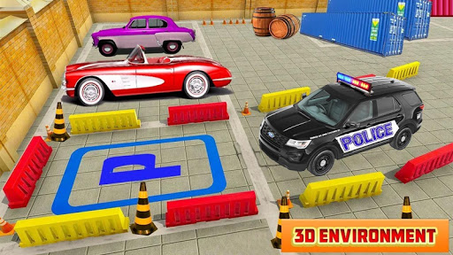 Spooky Police Car Parking Games screenshot 4