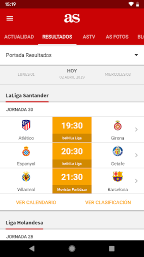 AS - News and sports results. screenshot 2