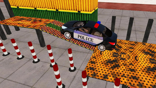 Spooky Police Car Parking Games screenshot 12