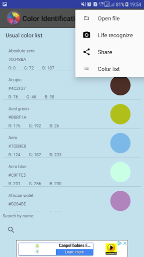 Color Identification screenshot 8