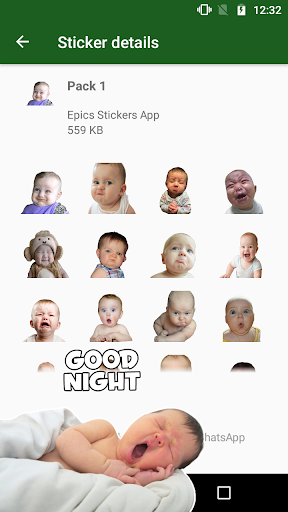 WAstickerApps Babies Funny Faces with Phrases screenshot 4