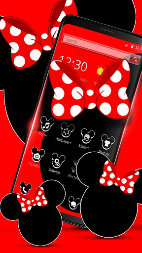 Stylish Mice Bowknot Launcher screenshot 4