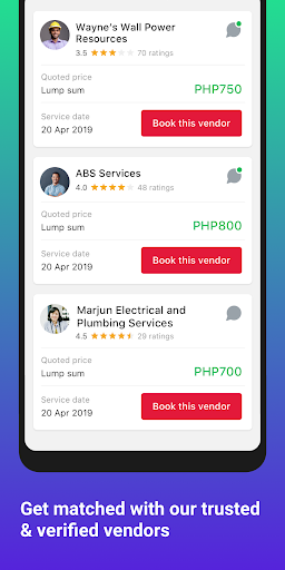 Gawin - Hire services screenshot 2
