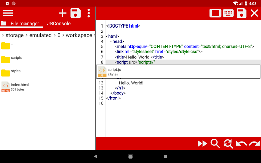 WebCode - ide for html, css and javascript screenshot 16