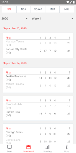 NFL Live Streaming And More screenshot 2