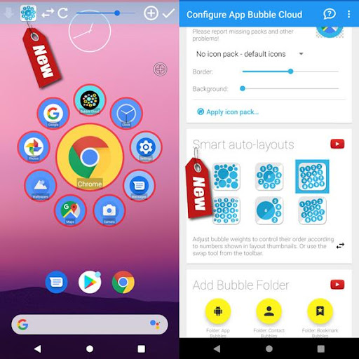 Bubble Cloud Widgets + Folders for phones/tablets screenshot 5