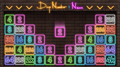 Drop Number : Neon 2048 capture d ecran 9