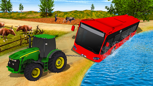 Tractor Pull & Farming Duty Game 2019 screenshot 5