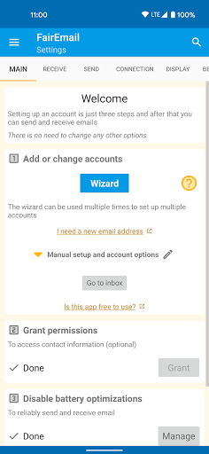 FairEmail, privacy first email screenshot 1