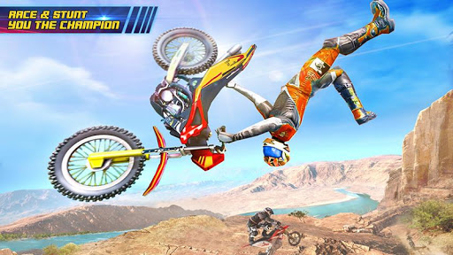 Motocross Dirt Bike Stunt Racing Offroad Bike Game screenshot 1