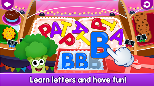 Funny Food!🥦learn ABC games for toddlers&babies📚 screenshot 2