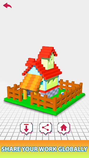 House Voxel Paint by Number screenshot 3