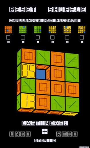 Slide Puzzle with 3D Cubes (Roll Over Puzzle) screenshot 2