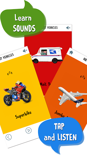 First Words for Baby: Vehicles screenshot 2
