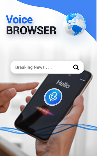 Fast Voice Browser & Web Voice Search screenshot 1