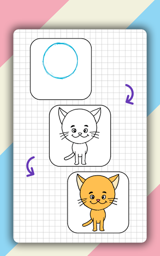 How to draw cute animals step by step, lessons screenshot 9
