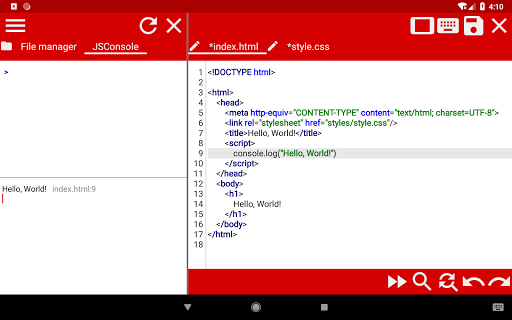 WebCode - ide for html, css and javascript screenshot 17