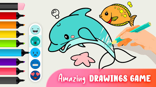 Animal Coloring Book - Coloring pages for kids screenshot 1