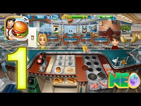 Cooking Fever: Gameplay Walkthrough Part 1 - Fast Food Court Level 1-5 (iOS, Android)