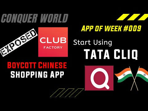 How to Use Tata Cliq in Hindi  Alternatives to Chinese App  App of the Week #009 by @CONQUER WORLD