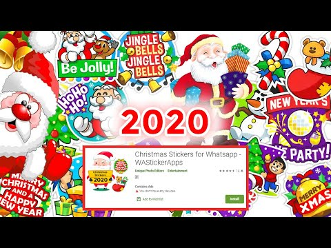 How to send merry Christmas stickers on whatsapp || download Christmas whatsapp stickers #christmas