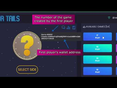video review of Blockchain Dex Game HEADS OR TAILS