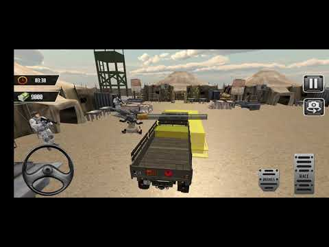 video review of US Army Cargo Transport Truck Driving Simulator