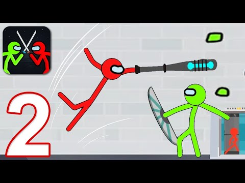 SUPREME STICKMAN FIGHTING - Walkthrough Gameplay Part 2 - CHAPTER 3-4 (iOS Android)