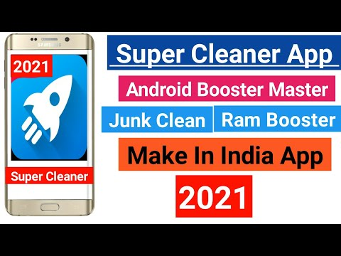 Best Super Cleaner App For Android Mobile Made By Indian 2021    Speed Booster Apps
