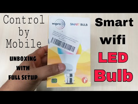 Wipro Multi Color Smart WIFI LED  Bulb unboxing with full setup | How to use ? WepClick