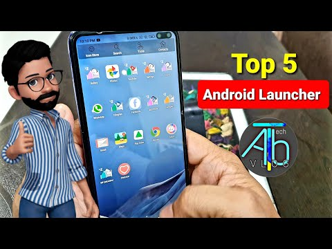 Top 5 Android launcher | live icon .