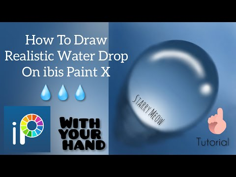 How To Draw Realistic Water Drop [Easy] on ibis Paint X | Starry Meow
