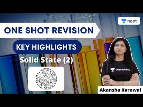Solid State (2)   Physical Chemistry   Key Highlights   One Shot Revision   NEET 2021   Akansha K