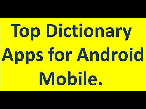 Top #Dictionary Apps for #Android Mobile, English to Hindi to English     By Technology Up