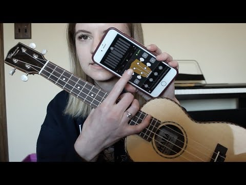 How to tune a ukulele with an app!