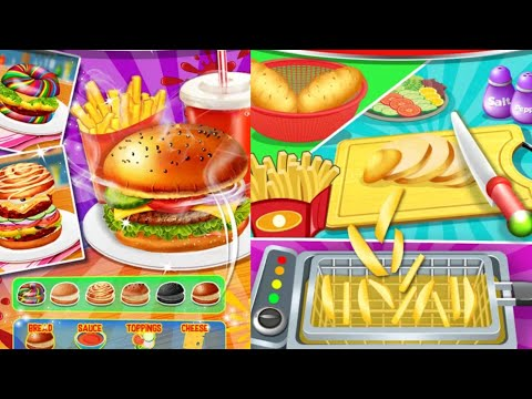 Fun Cooking Games for Kids   Happy Kids Meal Maker - Burger Cooking Games