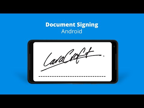 Signing a Document on Android
