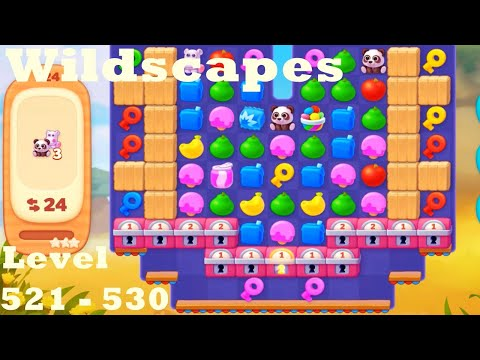 Wildscapes Level 521 - 530 HD Walkthrough | Gameplay | 3 - match game | ios | android | pc | app