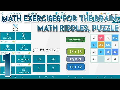 Math Exercises for the brain Math Riddles Puzzle Gameplay Walkthrough