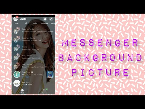 How to add background picture at messenger home screen?
