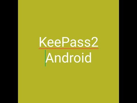 How to create a database and import files in keepass2Android