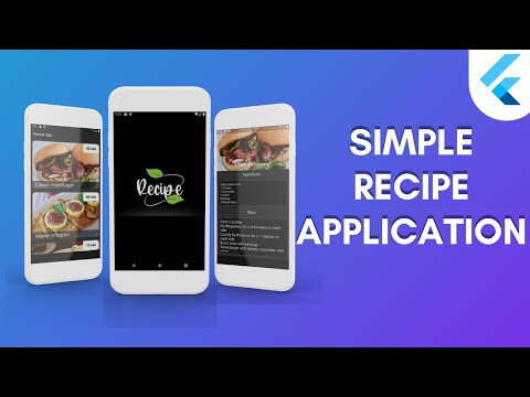 Android Studio - Build A Simple Recipe Application in Flutter | Speed Code