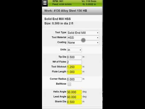 FSWizard PRO CNC Speed and Feed Calculator For Android and iOS