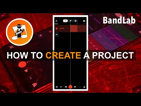 Quick guide to creating a project in the BandLab app